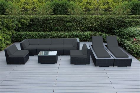 ohana collection outdoor sectional sofa chaise lounge set