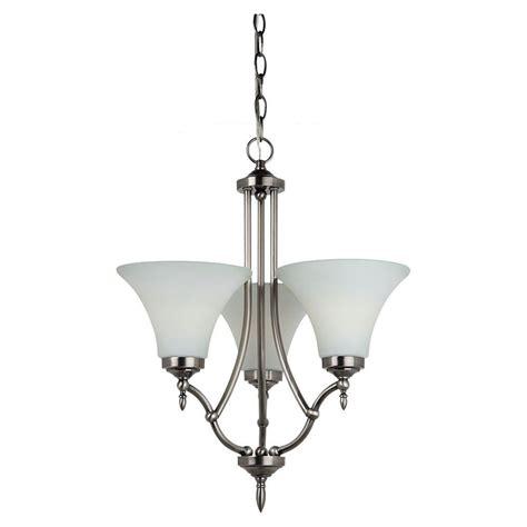 single chandelier sea gull lighting montreal 3 light antique brushed nickel