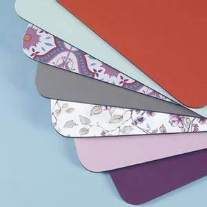 Sets De Table Originaux : set de table en formica 14 couleurs les gambettes objets ~ Voncanada.com Idées de Décoration
