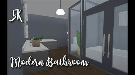 bloxburg modern bathroom  youtube