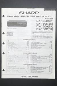 Sharp Dx  150e   150a   150 X Original Service Manual