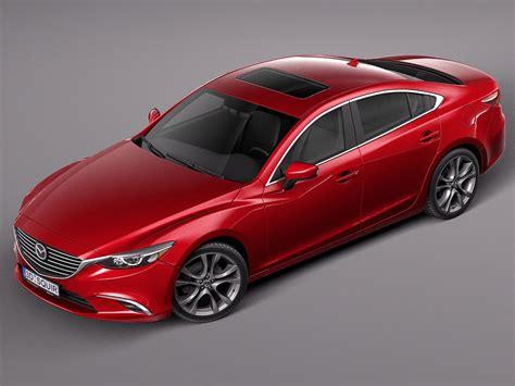 Mazda Sedan Models by Mazda 6 Sedan 2016 3d Model Max Obj 3ds Fbx C4d Lwo