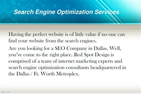 Search Engine Optimization Ranking - ppt how redspotdesign can increase your website s