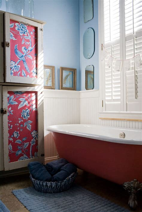 blue and coral bathroom cheap home decors shabby chic bathrooms
