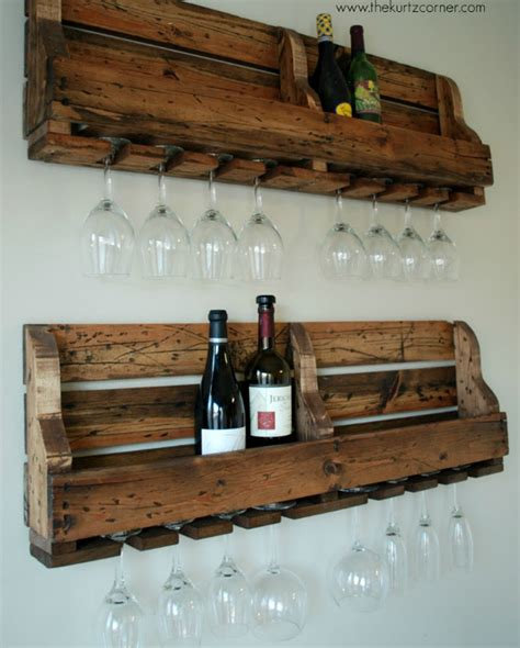rustic homemade wine rack diy crafts handimania