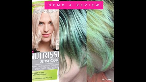 What Is The Lightest Hair Dye by Garnier Nutrisse Lightest Platinum Dye Demo Review