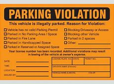 mock parking ticket