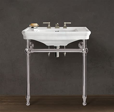 Bathroom Sink Metal Legs by Park Rounded Metal Single Console Sink