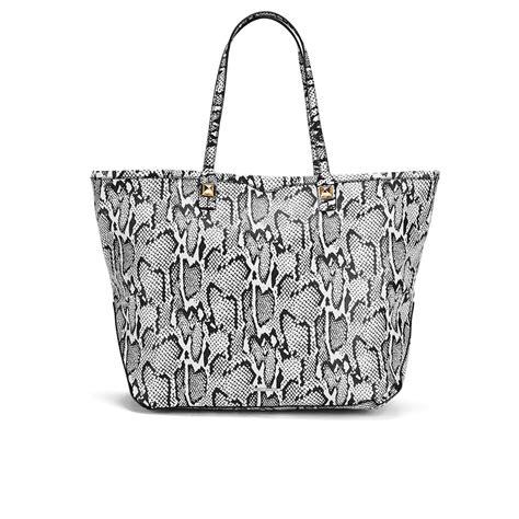 rebecca minkoff womens  tote bag snake print