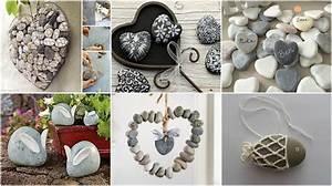 Basteln Mit Steinen : mit steinen dekorieren 20 tolle ideen ~ Watch28wear.com Haus und Dekorationen