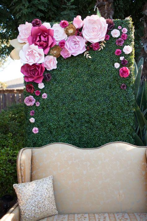 paper flower backdrop ideas  pinterest flower
