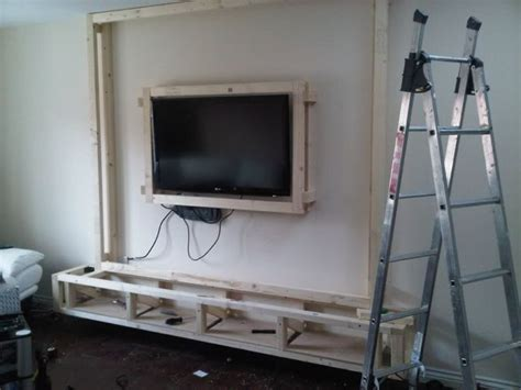 diy floating wall unit idea living room pinterest