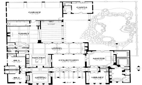home plans with courtyard small style house plans house plans with