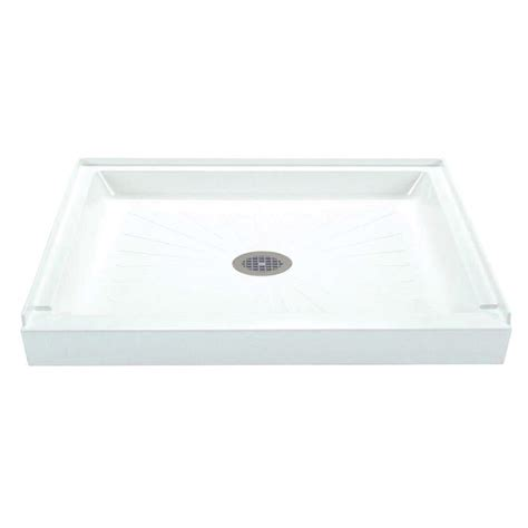 36 x 42 shower pan shop mustee durabase white fiberglass shower base common 7339