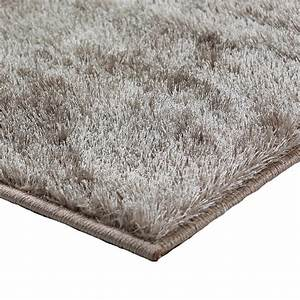 tapis shaggy brillant couleur taupe 120x170cm With tapis shaggy taupe