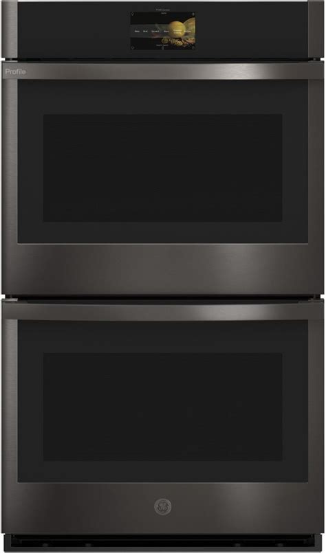 ge profile  black stainless steel built  convection double wall oven ptdbnts