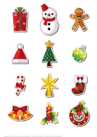 printable christmas stickers  printable papercraft