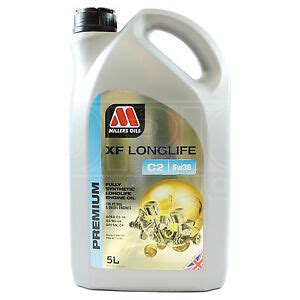 motoröl 5w30 longlife millers oils xf longlife c2 5w 30 fully synthetic 5w30 engine 5 litres 5l ebay