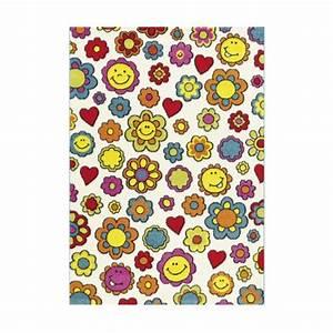 arte espina tapis enfant fleurs smiley multicolore With tapis chambre bébé avec envoyer des fleurs a new york