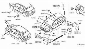 2012 Nissan Versa Hatchback Body Side Fitting