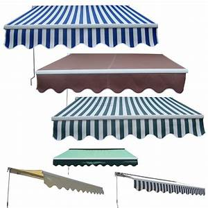 New Manual Aluminium Retractable Awning Canopy Garden