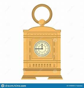 Mantel Clock Manual Structure Design Stock Vector