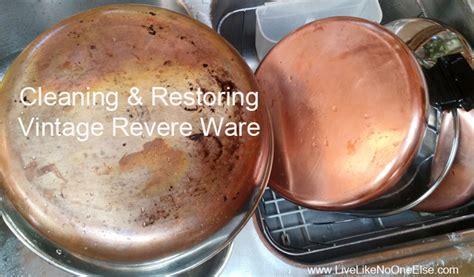 ebay selling   clean vintage revere ware pots pans
