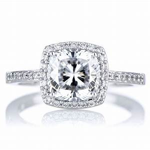 Diamond rings cubic zirconia best wedding promise for Cushion cut engagement rings with wedding band