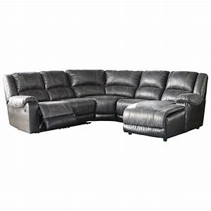ashley signature design nantahala faux leather reclining With sectional sofas johnny janosik