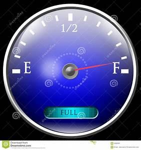 Almost full gas tank stock illustration. Illustration of ...