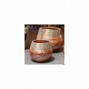 Pot En Terre Cuite émaillée : pot en terre cuite maill e cancanle bois de rose ~ Dailycaller-alerts.com Idées de Décoration