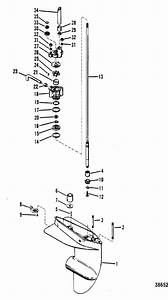 Mercury Marine 7 5 Hp Gear Housing  Driveshaft  Parts