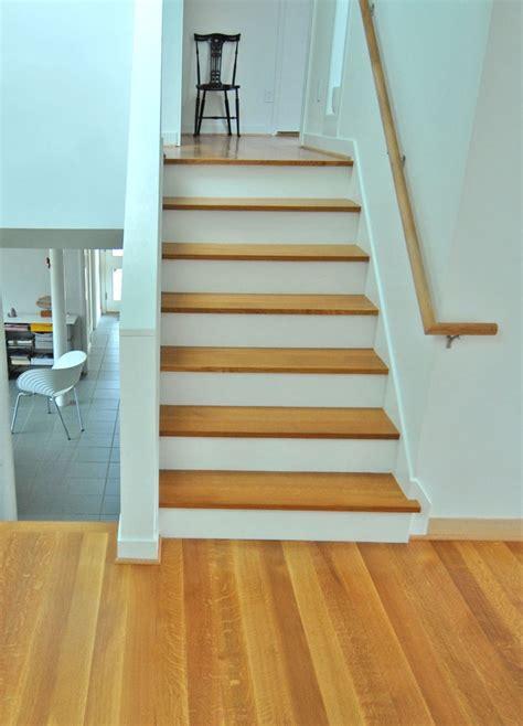 wood flooring step quarter sawn white oak stair treads and flooring what i do reclaimed wood pinterest