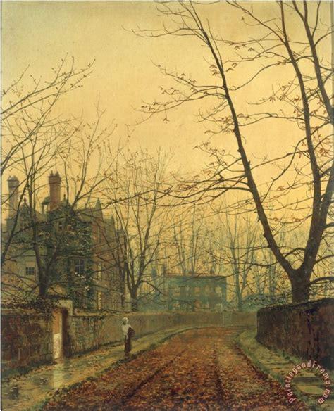 john atkinson grimshaw hampstead autumn gold  painting