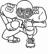 Coloring Football Pages Player Printable sketch template