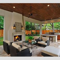 Outdoor Living Room & Kitchen With Fireplace It's Like A