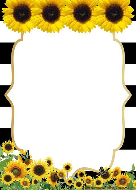 sunflower birthday invitation templates bagvania