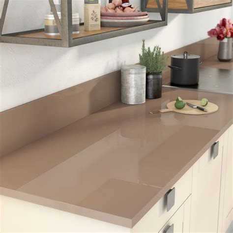 plan de travail cuisine stratifié leroy merlin plan de travail stratifié brun tweed 2 brillant l 300 x p