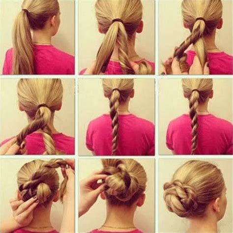 chignon moderne facile a faire coiffure simple et rapide chignon facile et rapide coiffure simple et facile