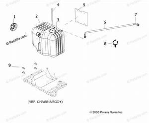 Polaris Side By Side 2008 Oem Parts Diagram For Body  Fuel