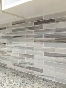 modern white gray subway marble backsplash tile