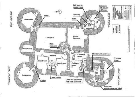 chateau floor plans château de montbrun plan du second étage castles