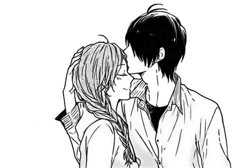 anime couple black and white wallpaper manga couple tumblr image 2932223 par bobbym sur favim fr