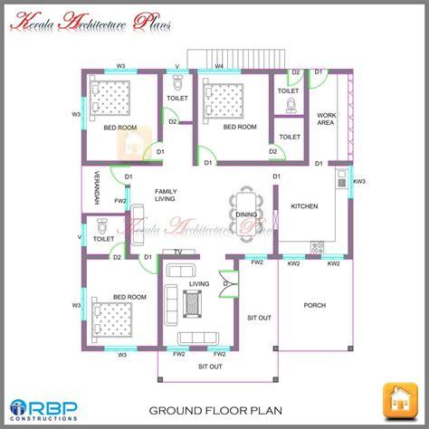 kerala home plan single floor awesome kerala style single