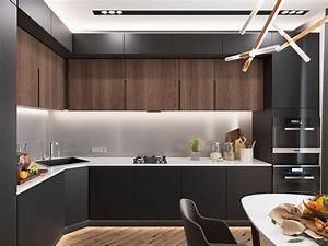 Minimalist Kitchen Designs Decorated With a Wooden Accent