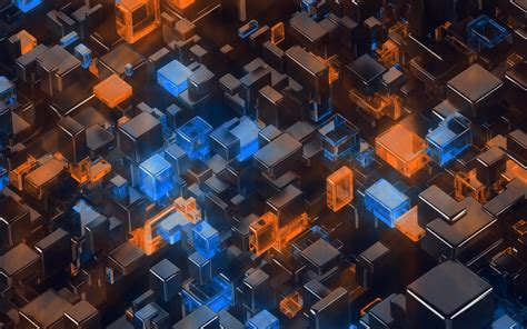 vp digital art blue orange  pattern wallpaper