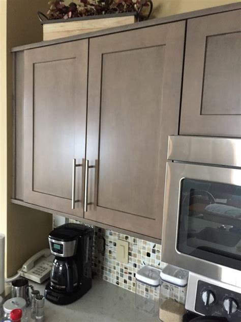 grey wash kitchen cabinets kitchen cabinets refaced with pendleton sp275 in maple