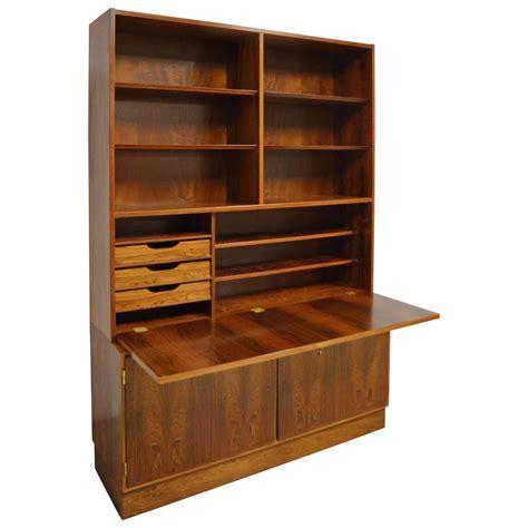 Midcentury Modern Danish Rosewood Bookcase Secretary For