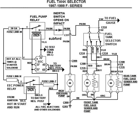 Ford F 350 Fuel Tank Diagram by 1987 F 150 5 0 Dual Tank Fuel Diagram Ford Truck
