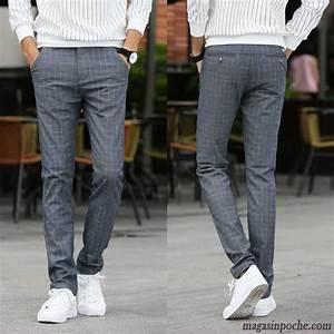 Pantalon bordeaux homme homme slim pantalons decontractes for Pantalon carreaux homme